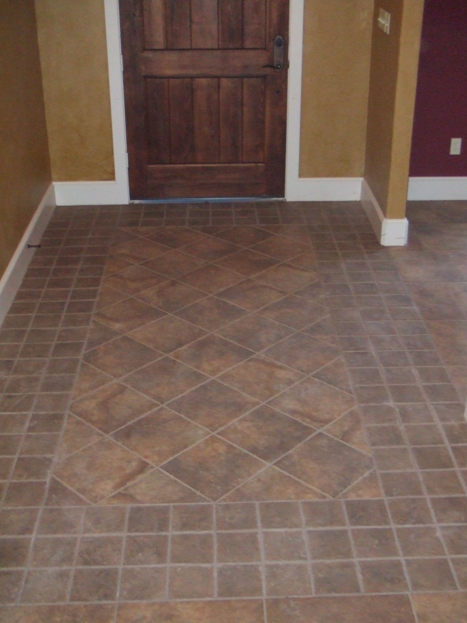 Entry border solaris nutmeg 12x12 faith floors more in college station tx for Bathroom remodeling college station tx